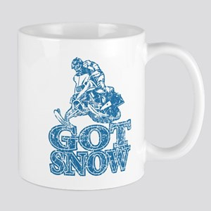 Got Snow Distressed Image in Mug