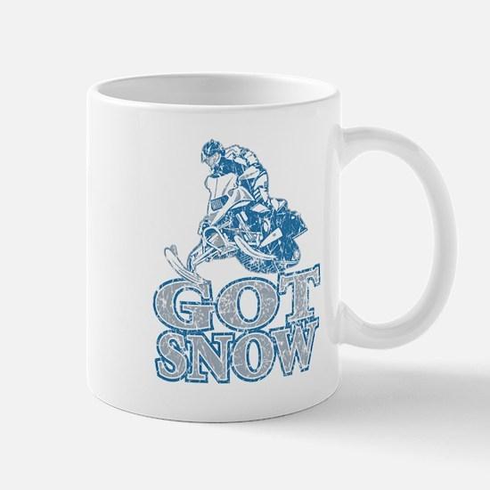 Cool Sled snow snowmobile winter Mug