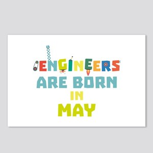Engineers are born in May Postcards (Package of 8)