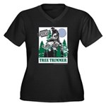 Official Snowmobiler Tree Tri Women's Plus Size V-