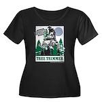 Official Snowmobiler Tree Tri Women's Plus Size Sc