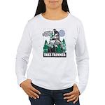 Official Snowmobiler Tree Tri Women's Long Sleeve