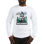 Official Snowmobiler Tree Tri Long Sleeve T-Shirt