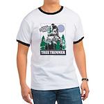 Official Snowmobiler Tree Tri Ringer T