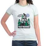 Official Snowmobiler Tree Tri Jr. Ringer T-Shirt