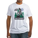 Official Snowmobiler Tree Tri Fitted T-Shirt