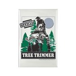 Official Snowmobiler Tree Tri Rectangle Magnet