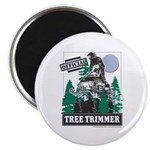 Official Snowmobiler Tree Tri Magnet