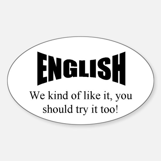 English Oval Decal