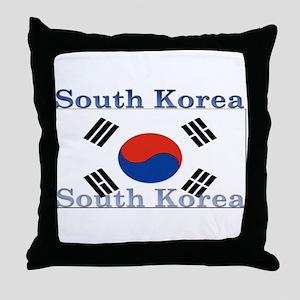 South Korea Throw Pillow
