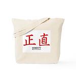 Samurai Honesty Kanji Tote Bag
