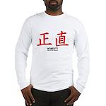 Samurai Honesty Kanji (Front) Long Sleeve T-Shirt