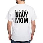 Navy For Mom's White T-Shirt