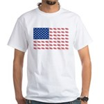 American Flag made of Snowmobiles White T-Shirt