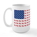 American Flag made of Snowmobiles Large Mug