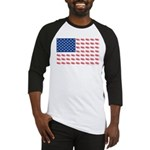 American Flag made of Snowmobiles Baseball Jersey