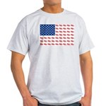 American Flag made of Snowmobiles Light T-Shirt