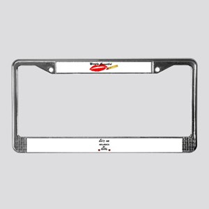 SIMPLY BEAUTIFUL HOT LIPS License Plate Frame