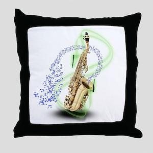 Soprano Saxophone Throw Pillow
