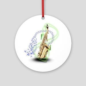 Soprano Saxophone Ornament (Round)