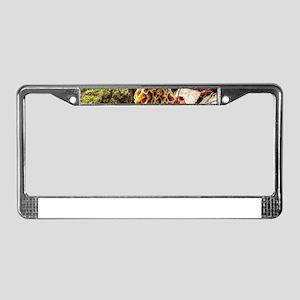 Morel Mushroom in the Wild License Plate Frame