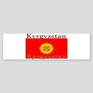 Kyrgyzstan Kyrgyz Flag Bumper Sticker