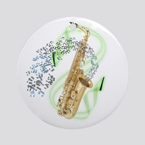 Alto Saxophone Ornament (Round)
