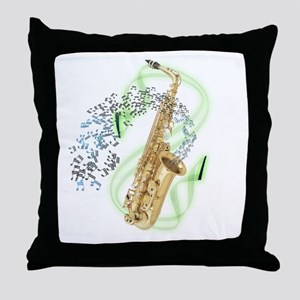 Alto Saxophone Throw Pillow