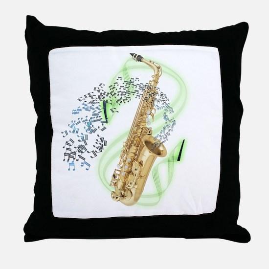 Alto Saxophone Throw Pillow