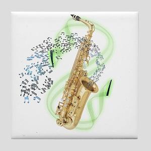 Alto Saxophone Tile Coaster