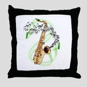 Tenor Saxophone Throw Pillow