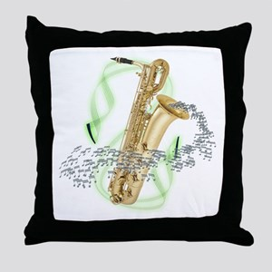 Baritone Saxophone Throw Pillow