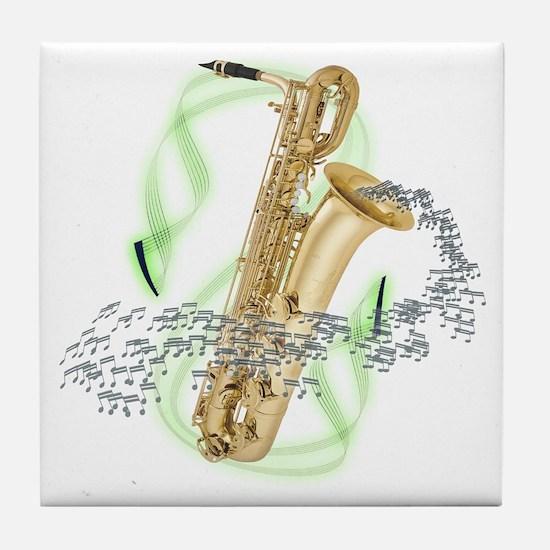 Baritone Saxophone Tile Coaster