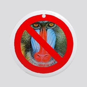 No Baboons Ornament (Round)