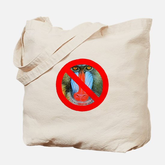 No Baboons Tote Bag