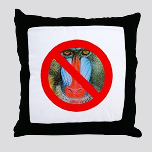 No Baboons Throw Pillow
