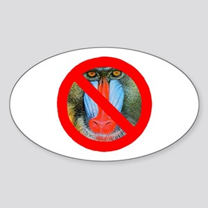No Baboons Oval Sticker