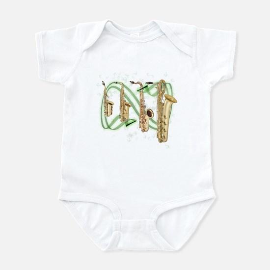 Saxophones Infant Bodysuit
