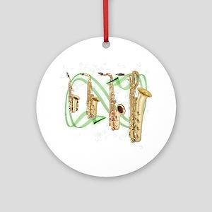 Saxophones Ornament (Round)