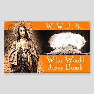 WWJB - Traditional Jesus Rectangle Sticker
