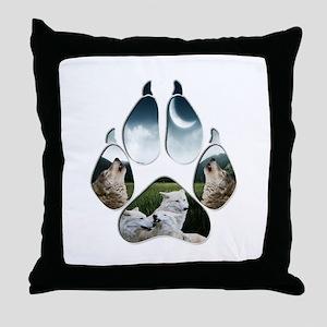 Wolf Print Throw Pillow