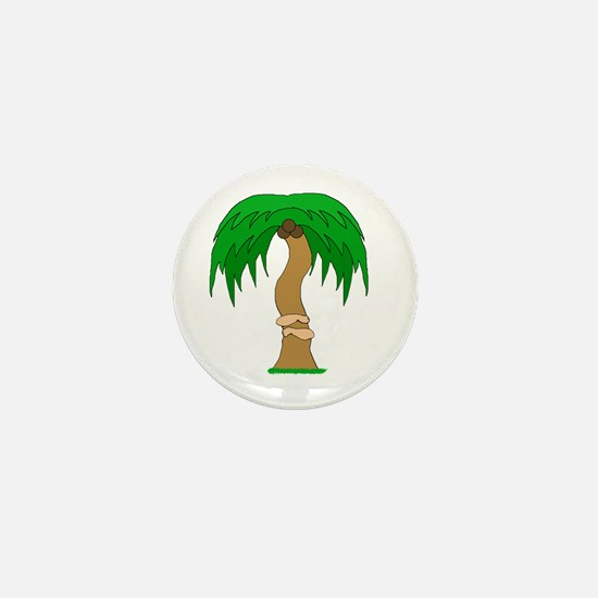 arms hugging coconut tree Mini Button