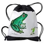 Goliath Frog Drawstring Bag