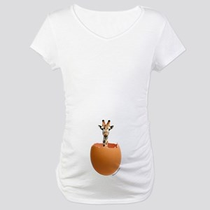Giraffe Egg Maternity T-Shirt