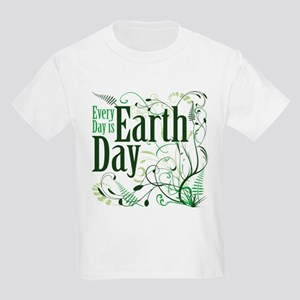Every Day is Earth Day Kids Light T-Shirt
