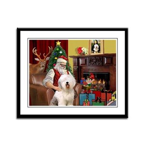 Santa's Old English #6 Framed Panel Print