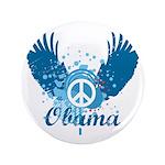 "Obama Peace Symbol 3.5"" Button"