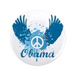 "Obama Peace Symbol 3.5"" Button"