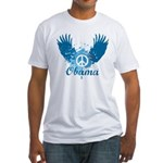 Obama Peace Symbol Fitted T-Shirt