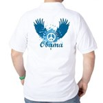 Obama Peace Symbol Golf Shirt